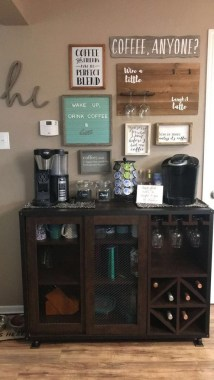 Best Coffee Bar Decorating Ideas for Your That Like a Coffee 35