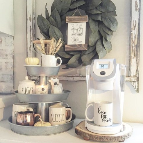 Best Coffee Bar Decorating Ideas for Your That Like a Coffee 47