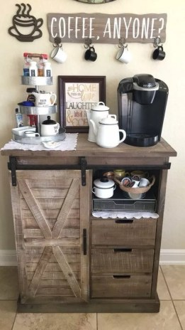 Best Coffee Bar Decorating Ideas for Your That Like a Coffee 49