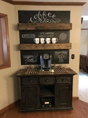 Best Coffee Bar Decorating Ideas for Your That Like a Coffee 54