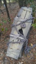 Creepy Halloween Coffin Decorations 12