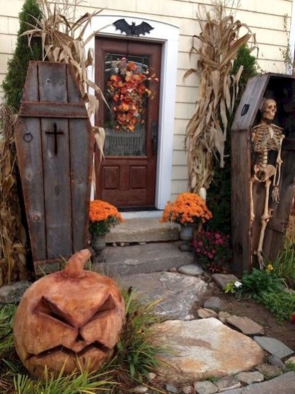 Creepy Halloween Coffin Decorations 30