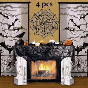 Elegant Halloween Mantel décor You Must Try In Halloween 2019 01