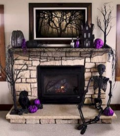 Elegant Halloween Mantel décor You Must Try In Halloween 2019 12