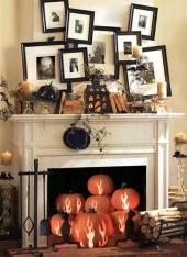 Elegant Halloween Mantel décor You Must Try In Halloween 2019 23