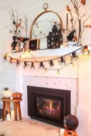 Elegant Halloween Mantel décor You Must Try In Halloween 2019 34