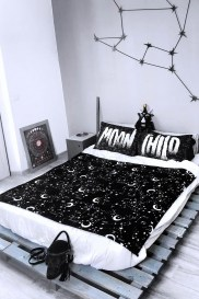 Small Bedroom Decoration with Halloween Ornament 05