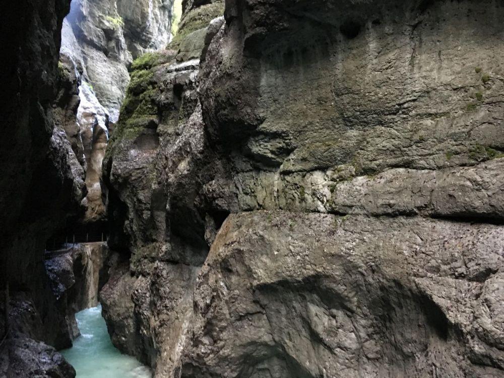 Water in the gorge in Garmisch