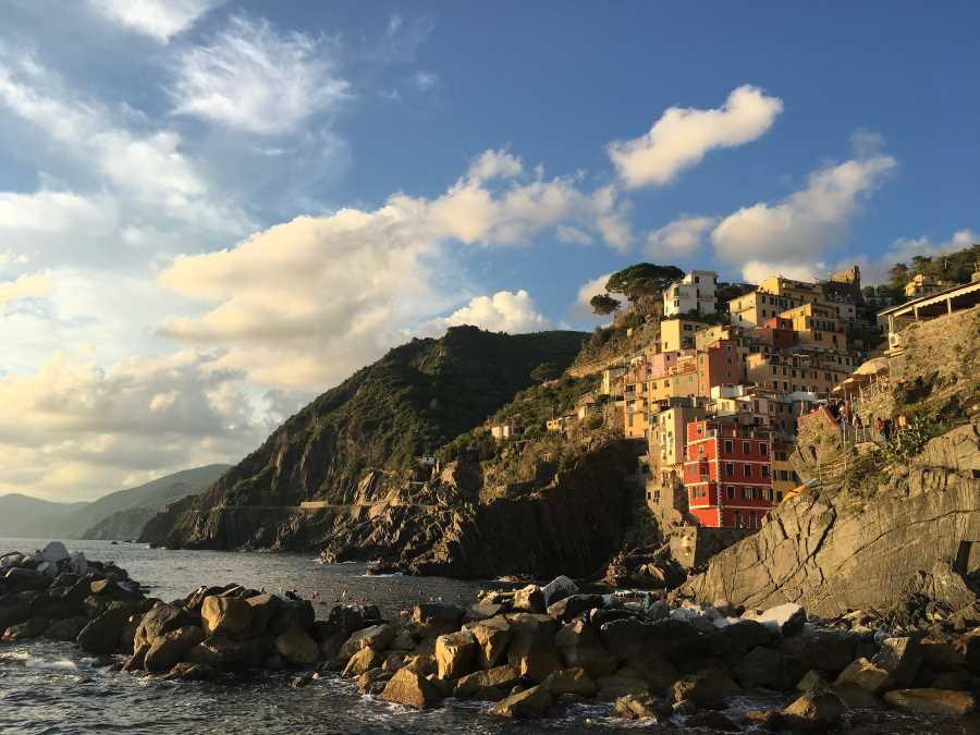 A photo of Riomaggiore, which is the first town in Cinque Terre.
