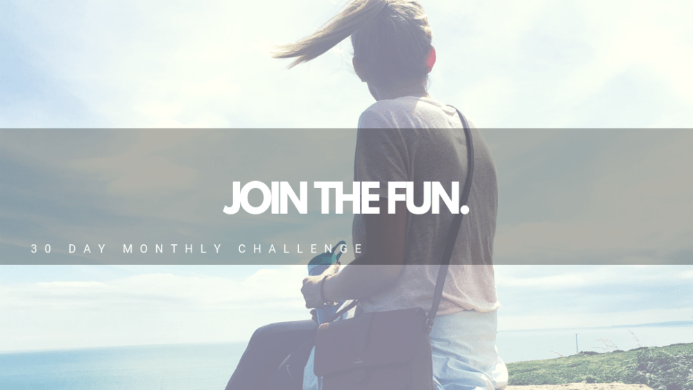 30-Day Challenges from Anchored Adventure Blog