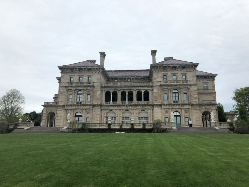 Visiting the mansions is the first thing to do on a day trip to Newport, Rhode Island. The estate show here is the Breakers mansions.