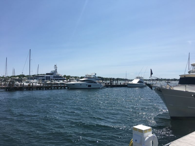 Any day trip to Newport, Rhode Island, should include lunch by the water. This photo is one the marina in Newport.