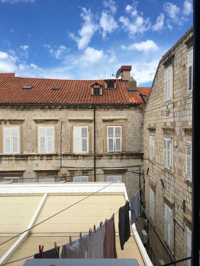 View of marbled buildings in Dubrovnik