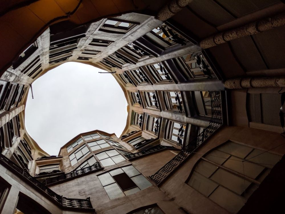 The interior of Casa Mila in Barcelona