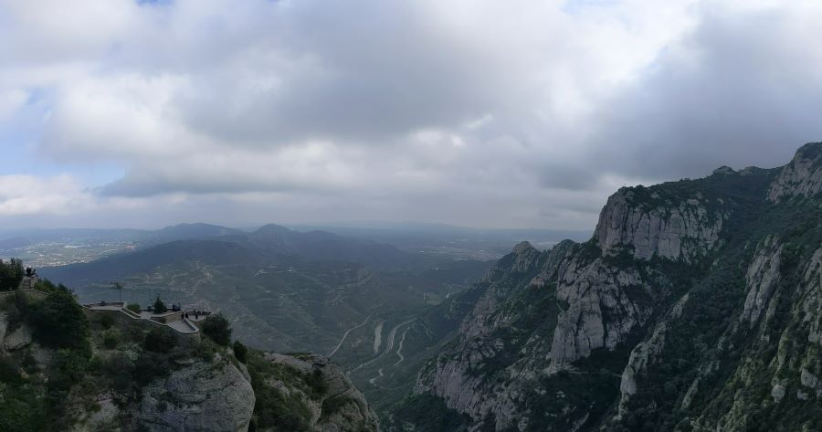 The mountains of Montserrat.