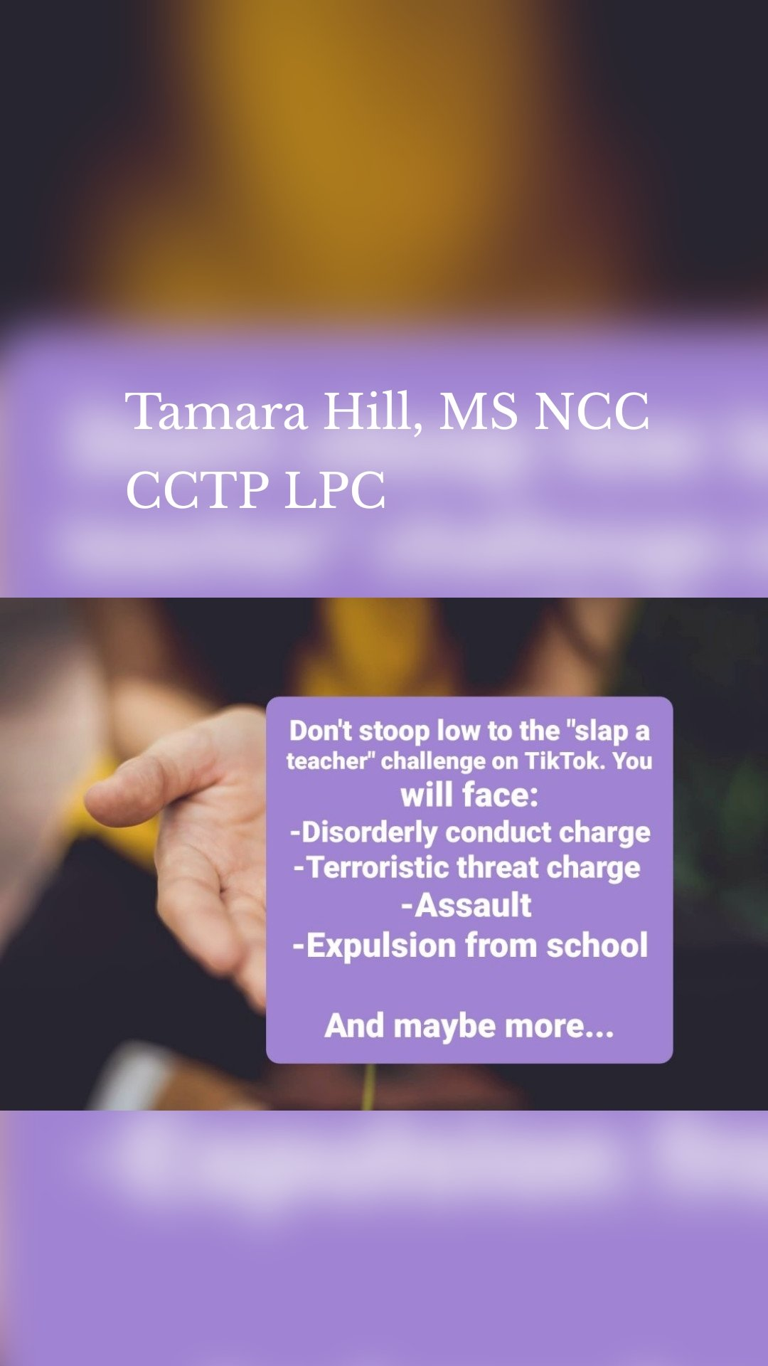 Tamara Hill, MS NCC CCTP LPC
