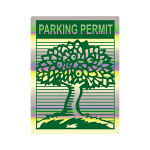 Parking Permit Holographic Residential sample