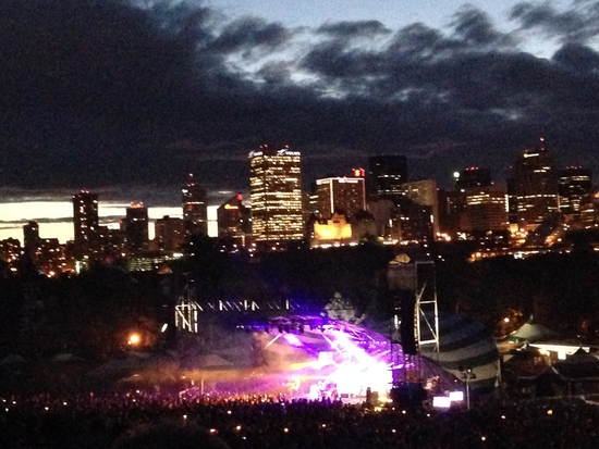 Perched on a local ski hill, the Edmonton Folkfest offers city views.