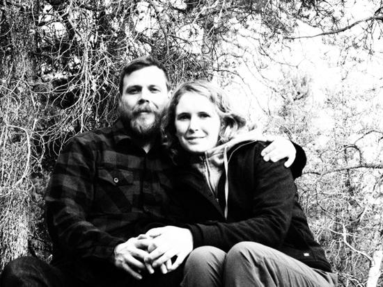 Beekeepers Sarah and Greg Greenleese.