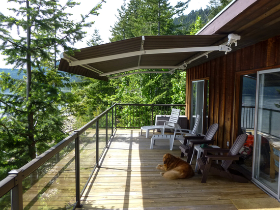 The deck of the Shuswap cabin.