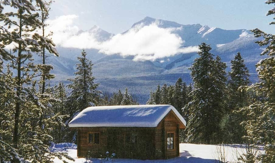 A cabin overlooks B.C.'s Robson Valley.