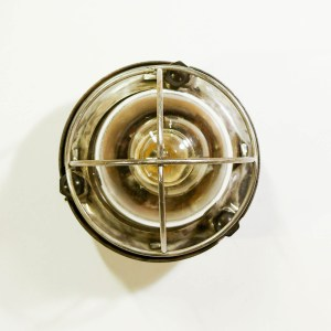 anciellitude Round wall light with fence, bakelite fasteners2