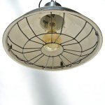 Black Ceiling Lamp with Fence anciellitude