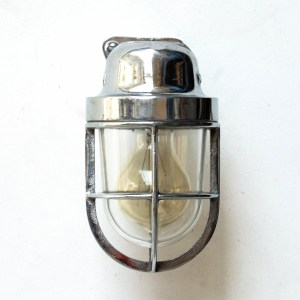 Wall Light in Chrome Plated Brass with a Fence anciellitude