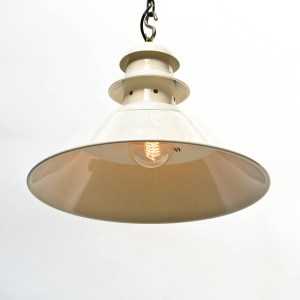 Black Ceiling Light with Perforated Neck, white cream anciellitude