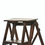 Old Folding Stepladder Made of Wood anciellitude