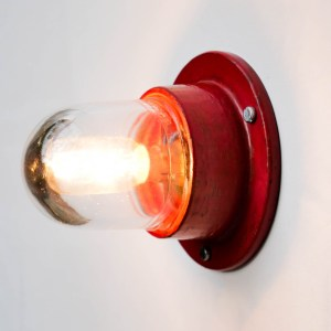 Small Red Wall Light « Loupiote » anciellitude