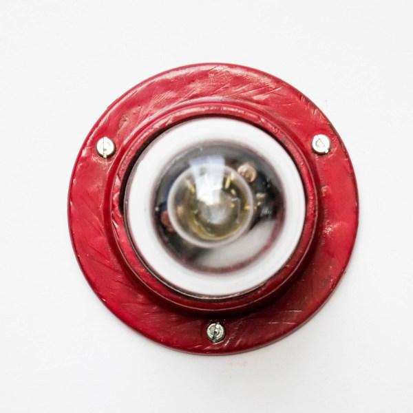Petite applique « loupiote » rouge anciellitude