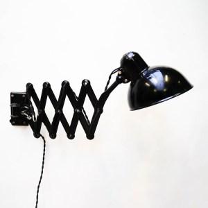 Scissor Wall Lamp Kaiser Idell by  Dell, Black. anciellitude