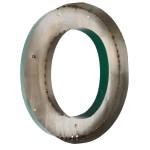 Grande lettre O verte en métal vintage anciellitude