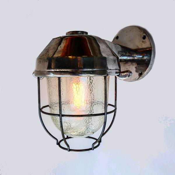 Wall light, hammered glass V2 anciellitude