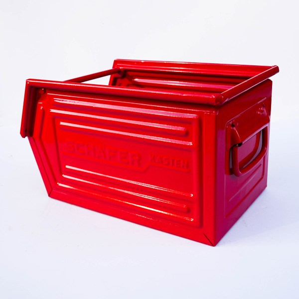 Caisse métallique « rouge foncé » anciellitude