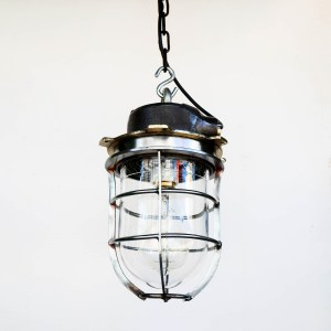 Old Ceiling Lamp Made of Steel anciellitude