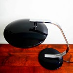 Ancienne lampe de bureau noire anciellitude