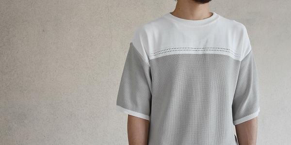 高機能すぎるKELENのバイカラーニットTシャツ-BI COLOR W.R TOP-