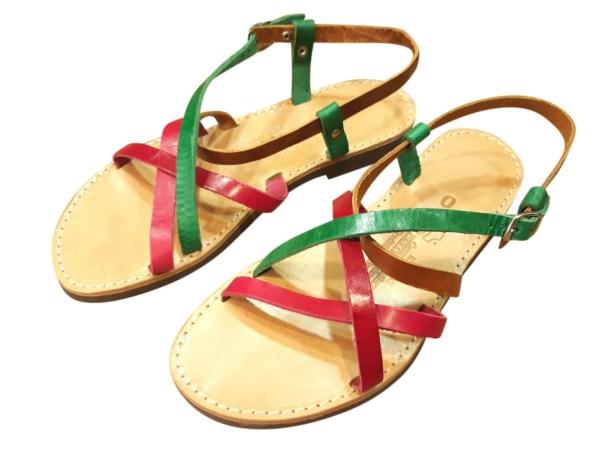greek handmade leather sandals 345