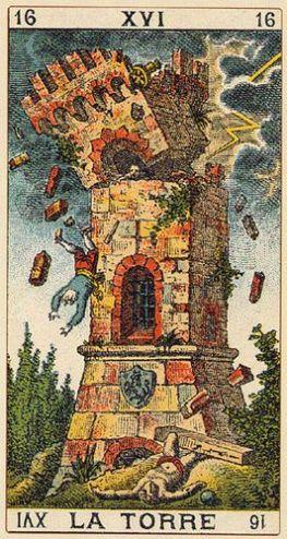 Burning Tower, destroyed by lightning
