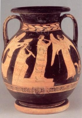 Εικ. 5. London, British Museum 1910.6-15.1, 425-420 πΧ. Αγών αυλητών.