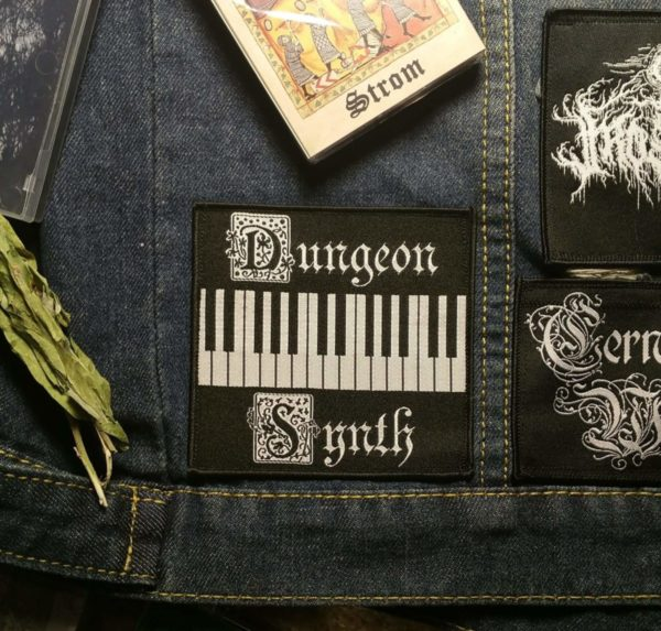 dungeon synth patches, woven dungeon synth patch, dungeon synth battle jacket, ambiant black metal