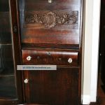 Gorgeous American Antique Drop Front Oak Secretary Desk Side By Side Bookcase