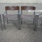 Vintage Wassily Style Sling Chairs Chrome Set 2