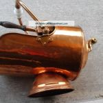 Vtg White Handle Copper Coal Scuttle Ash Bucket W Shovel Fireplace Wood Stove