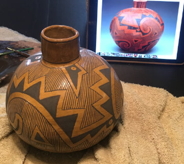 replicating an ancient pot