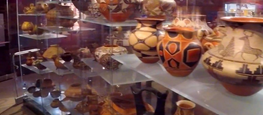 Arizona State Museum pottery exhibit