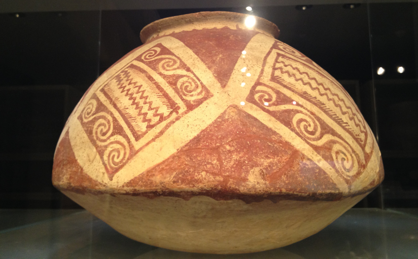 Prehistoric Hohokam red on buff pottery