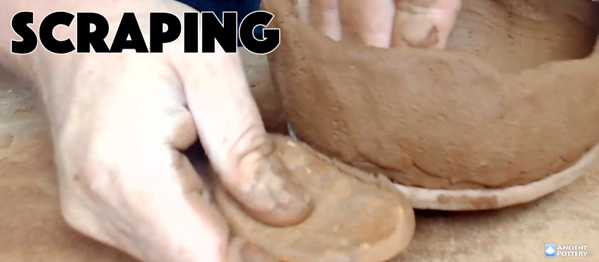 scraping for a coil pot